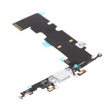 Napájecí a datový konektor s flex kabelem + GSM anténa + mikrofony pro Apple iPhone 8 Plus - šedý - kvalita A+