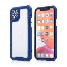 Kryt pro Apple iPhone 11 Pro Max - plastový / gumový - přesné výřezy fotoaparátu - modrý