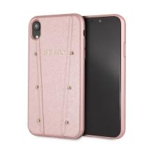Kryt GUESS Kaya pro Apple iPhone Xr - plastový / umělá kůže - Rose Gold růžový
