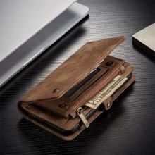 Pouzdro CASEME pro Apple iPhone 11 Pro - peněženka + odnímatelný kryt na telefon - prostor na doklady - hnědé