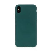 Kryt pro Apple iPhone Xs Max - příjemný na dotek - silikonový - lesně zelený