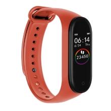 Sportovní fitness náramek M4 - krokoměr / měřič tepu / notifikace - Bluetooth - vodotěsný - oranžový