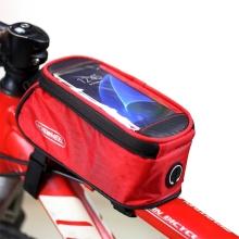 Sportovní pouzdro na kolo ROSWHEEL pro Apple iPhone 6 / 6S / 7 / 8 / X - červené