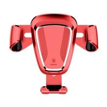 Držák do auta BASEUS Gravity - automatické uchycení - do ventilační mřížky - červený
