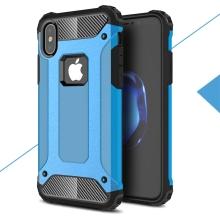 Kryt pro Apple iPhone X - odolný - plastový / gumový - světle modrý