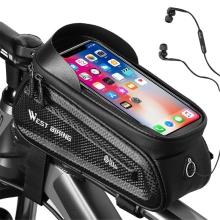 Sportovní pouzdro na kolo WEST BIKING pro Apple iPhone včetně velikostí Plus a Max - XL brašna - černé