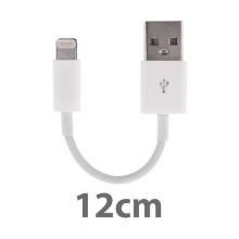 Mini synchronizační a nabíjecí kabel Lightning pro Apple iPhone / iPad / iPod - bílý