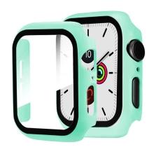 Tvrzené sklo + rámeček pro Apple Watch 40mm Series 4 / 5 / 6 / SE - mátově zelený