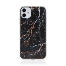 Kryt BABACO pro Apple iPhone 11 - gumový - černý mramor