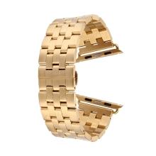 Řemínek pro Apple Watch 44mm Series 4 / 5 / 42mm 1 2 3 - ocelový + šroubováček - zlatý