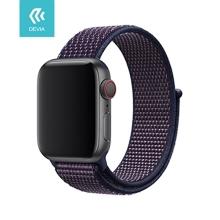 Řemínek DEVIA pro Apple Watch 44mm Series 4 / 5 / 42mm 1 2 3 - nylonový - indigově modrý