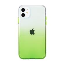 Kryt pro Apple iPhone 11 - gumový - průhledný / zelený