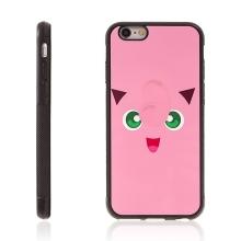 Kryt pro Apple iPhone 6 Plus / 6S Plus - kovový povrch - gumový - Pokemon Go / Jigglypuff