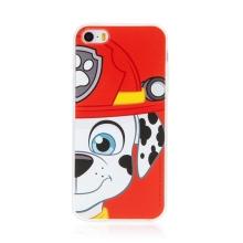 "Kryt ""Tlapková patrola"" pro Apple iPhone 5 / 5S / SE - gumový - hasič Marshall"