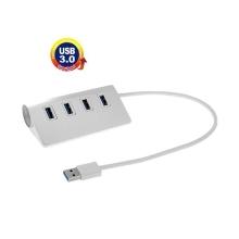 USB rozbočovač s 4x port USB 3.0 - stříbrný