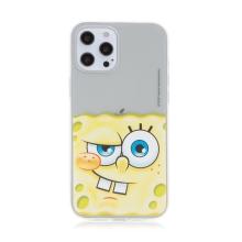 Kryt Sponge Bob pro Apple iPhone 12 Pro Max - gumový - potutelný Sponge Bob