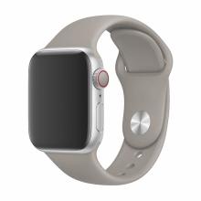 Řemínek DEVIA pro Apple Watch 40mm Series 4 / 5 / 6 / SE / 38mm 1 / 2 / 3 - silikonový - šedý