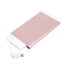Externí baterie / power bank IDMIX - MFi certifikovaná - 4100 mAh - Lightning - vstup Micro USB - Rose Gold