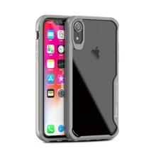 Kryt IPAKY pro Apple iPhone Xr - plastový / gumový - průhledný / šedý