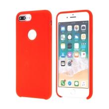 Kryt pro Apple iPhone 7 Plus - gumový - příjemný na dotek - výřez pro logo - červený