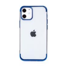 Kryt FORCELL Electro pro Apple iPhone 12 mini - gumový - průhledný / modrý