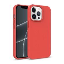 Kryt pro Apple iPhone 13 Pro Max - slaměné kousky - gumový - červený