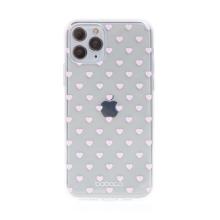 Kryt BABACO pro Apple iPhone 11 Pro Max - gumový - srdíčka - průhledný