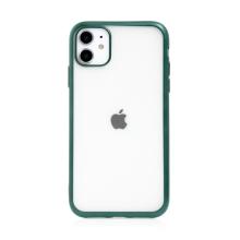 Kryt FORCELL Electro Matt pro Apple iPhone 11 - gumový - průhledný / zelený