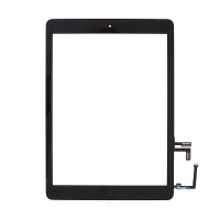 Dotykové sklo (touch screen) s flex kabelem a Home Buttonem pro Apple iPad Air 1.gen. - černé - kvalita A+