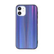 Kryt pro Apple iPhone 12 mini - barevný přechod a lesklý efekt - gumový / skleněný - tmavě modrý