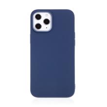 Kryt FORCELL Soft pro Apple iPhone 12 / 12 Pro - gumový - tmavě modrý