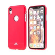 Kryt MERCURY Jelly pro Apple iPhone Xr - výřez pro logo - gumový - červený