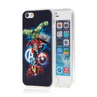 Kryt MARVEL pro Apple iPhone 5 / 5S / SE - Avengers - gumový