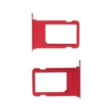Rámeček / šuplík na Nano SIM pro Apple iPhone 7 - červený - kvalita A+