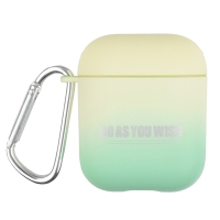 Pouzdro / obal pro Apple AirPods - barevný přechod - plastové - zelené / mátové