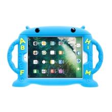 Pouzdro pro děti pro Apple iPad Air 1 / Air 2 / 9,7 (2017-2018) - rukojeť / stojánek - robot - silikonové - modré