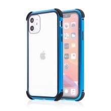 Kryt pro Apple iPhone 11 - 360° ochrana - magnetické uchycení - skleněný / kovový - modrý