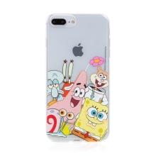 Kryt Sponge Bob pro Apple iPhone 7 Plus / 8 Plus - gumový - Sponge Bob s kamarády