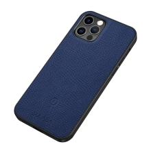 Kryt SULADA pro Apple iPhone 12 / 12 Pro - podpora MagSafe - umělá kůže - tmavě modrý