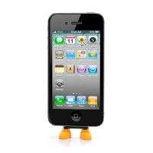 Antiprachová záslepka / stojánek 3D botky pro Apple iPhone / iPod touch mající 30-pin konektor - oranžová