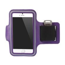Sportovní pouzdro pro Apple iPhone 6 / 6S - fialové s reflexním pruhem