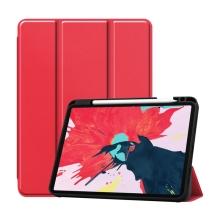 """Pouzdro pro Apple iPad Pro 11"""" (2018) / 11"""" (2020) - stojánek + prostor pro Apple Pencil - červené"""