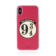 Kryt Harry Potter pro Apple iPhone X / Xs - gumový - nástupiště 9 a 3/4 - červený