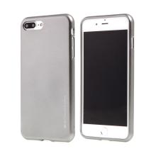 Kryt MERCURY iJelly pro Apple iPhone 7 Plus / 8 Plus - gumový - šedý - matný