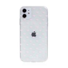 Kryt BABACO pro Apple iPhone 11 - gumový - srdíčka - průhledný