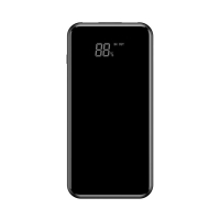 Externí baterie / power bank BASEUS - bezdrátové nabíjení Qi (5W) - 8000 mAh - Micro USB + USB-A - 10W - černá