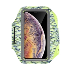 Sportovní pouzdro DEVIA pro Apple iPhone včetně velikostí Plus a Max - reflexní prvky - zelené