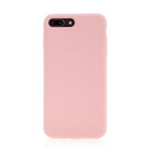 Kryt pro Apple iPhone 7 Plus / 8 Plus - příjemný na dotek - silný - silikonový - růžový