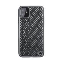 Kryt NILLKIN Herringbone pro Apple iPhone 11 - reflexní prvky - gumový / látkový - šedý