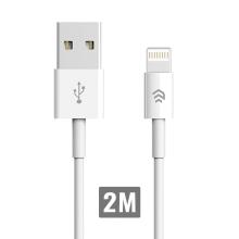 Synchronizační a nabíjecí kabel Lightning DEVIA pro Apple iPhone / iPad / iPod - bílý - 2m